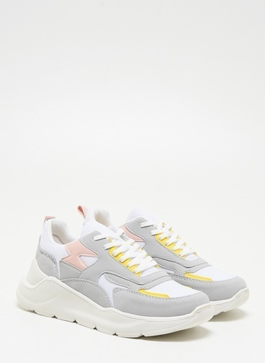 F By Fabrika Kadın Pembe Sneakers DEBRA Beyaz